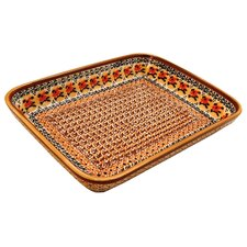 "<strong>Euroquest Imports Polish Pottery</strong> 12""  Rectangular Baking Pan"