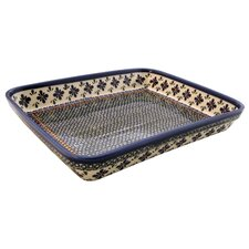 "<strong>Euroquest Imports Polish Pottery</strong> 13"" Rectangular Baking Pan"
