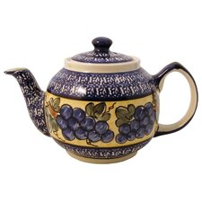 <strong>Euroquest Imports Polish Pottery</strong> 37 oz Teapot - Pattern DU8