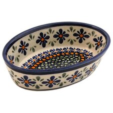 "<strong>Euroquest Imports Polish Pottery</strong> 6"" Oval Baking Pan"