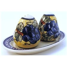 Salt and Pepper Shaker Set- Pattern DU8