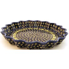 "<strong>Euroquest Imports Polish Pottery</strong> 12.5"" Fluted Pie Plate"