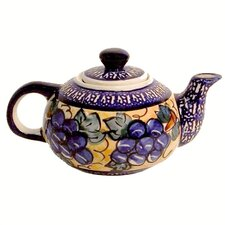 <strong>Euroquest Imports Polish Pottery</strong> 14 oz Teapot - Pattern DU8