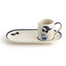 Espresso Cup and Biscotti Dish (Set of 4)