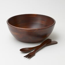 Rubberwood 3 Piece Salad Serving Set