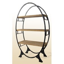 Oval Bookcase Display