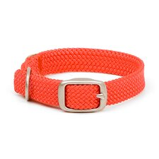 Double Braid Junior Collar in Red / Brushed Nickel Hardware