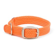 Double Braid Junior Collar in Orange / Brushed Nickel Hardware
