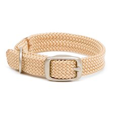 Double Braid Junior Collar in Sand / Brushed Nickel Hardware