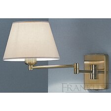 <strong>Franklite</strong> 1 Light Swing Arm Wall Light