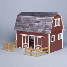 Finished & Ready to Play Ruff 'n Rustic Barn Dollhouse