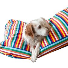 Rainbow Stripe Woof Pet Bed