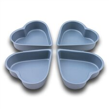 Bakers Pride Non Stick Mini-Heart Cake Tin Set (Set of 4)