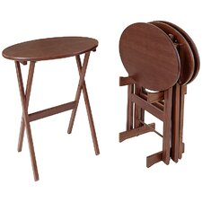 <strong>Manchester Wood</strong> Oval Tray Table (Set of 4)