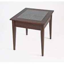 Slate Top End Table