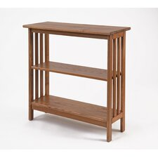 Console Bookcase in Golden Oak