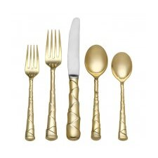 Captiva 5 Piece Gold Flatware Set