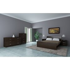 Coastal Cross 5 pieces Bedroom in Walnut