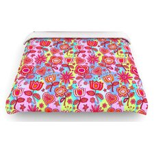 """My Folk Flowers"" Woven Comforter Duvet Cover"