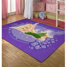 Disney Tinkerbell Purple Kids Rug