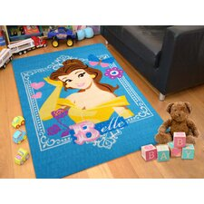 Licensed Blue Disney Princess Belle Kids Rug