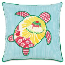 Alexis Turtle Applique Accent Pillow