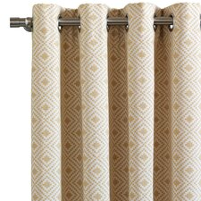 Downey Cyrus Straw Curtain Single Panel