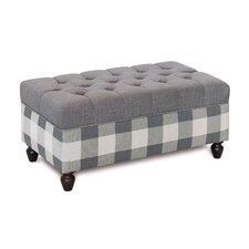 Hampshire Duvall Slate Upholstered Storage Bench