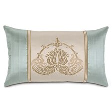 Evora Embroidered Insert Shantung Linen Pillow