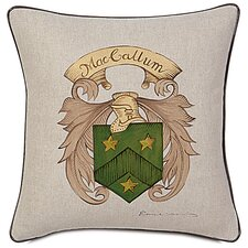 <strong>Eastern Accents</strong> MacCallum Hand Painted Name Crest Decorative Pillow
