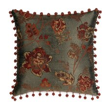 Minori Polyester Decorative Pillow with Ball Trim