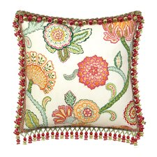 Portia Polyester Decorative Pillow with Tassel Trim