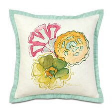<strong>Eastern Accents</strong> Portia Hand-Painted Motif Polyester Decorative Pillow