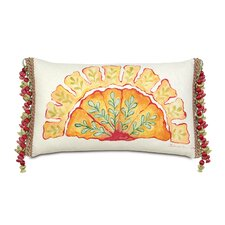 Portia Polyester Hand-Painted Motif Decorative Pillow