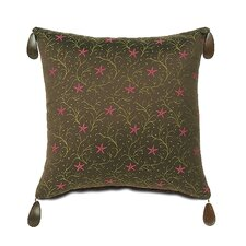 Tahiti Polyester Nardoa Decorative Pillow with Bead Tassels