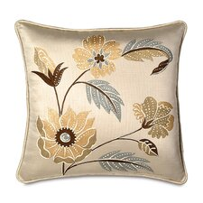 Bellezza Polyester Hand-Painted Decorative Pillow with Small Welt