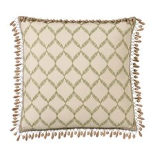 Caicos Polyester Bartow Decorative Pillow with Beaded Trim