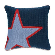 Carter Polyester Dune Denim Star Insert Decorative Pillow