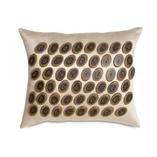 Jaya Witcoff Linen Buttons Decorative Pillow