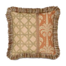<strong>Eastern Accents</strong> Kiawah Calappa Hand Painted Brush Fringe Decorative Pillow