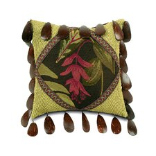 Tahiti Polyester Diamond Decorative Pillow with Beaded Trim
