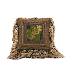Tahiti Polyester Mitered Decorative Pillow with Tonga Auburn