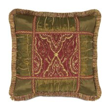 <strong>Eastern Accents</strong> Vaughan Polyester Collage Decorative Pillow with Brush Fringe
