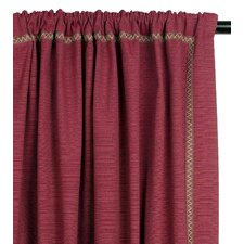 Tahiti Cotton Vivo Sumac Curtain Single Panel
