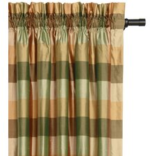 <strong>Eastern Accents</strong> Beckford Silk Plaid Cotton Rod Pocket Curtain Single Panel