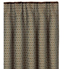 Chapman Danville Sea Cotton Pleated Curtain Single Panel