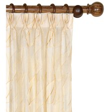 Collier Embroidered Silk Pleated Curtain Single Panel