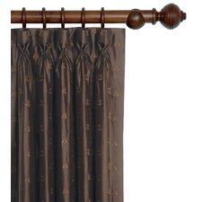 Josephine Embroidered Silk Cotton Pleated Curtain Single Panel
