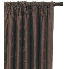 Josephine Embroidered Silk Cotton Rod Pocket Curtain Single Panel