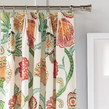 Portia Cotton Pleated Curtain Single Panel